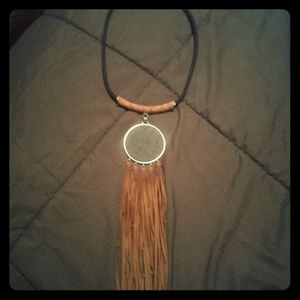 Chico's Suede Tassel Necklace